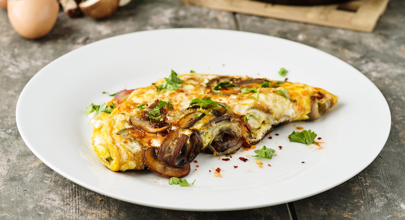 Hepsi Rezepte Omelett mit Käse und Pilzen